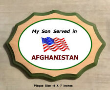 Always Action  Veteran's Service Plaque - My Son Served in Afghanistan