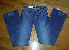 SEVEN 7 FOR ALL MANKIND WOMENS KIMMIE BOOTCUT SLIM FIT BLUE JEANS SIZE 24 Short