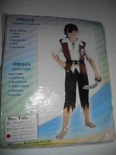 PIRATE BOY FANCY DRESS COSTUME PAMS AGED 8 - 10 YEARS large 6730