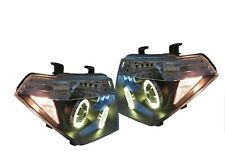 Headlight Set Black For Nissan Navara D40 2005-2010