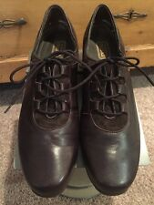 Munro Leather Chocolate Brown Lace Up Shoe Size 9.5 Narrow Retail $220