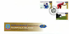 Norfolk Island 2010 FDC World Bowls Champion of Champions 3v Cover Sports Stamps