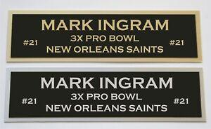 Mark Ingram nameplate for signed jersey football helmet or photo