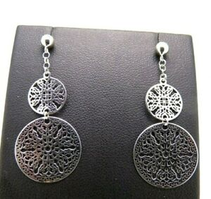 Earrings Used slightly used White Gold Solid 18K With Hanging