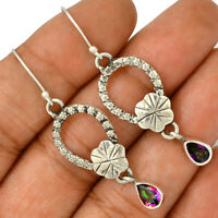 Rainbow Topaz 925 Sterling Silver Earrings Jewelry AE102779 186R