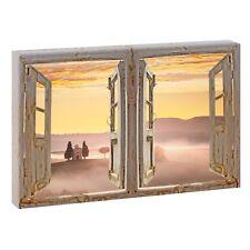 Bild Fotoleinwand Fensterblick  Toskana  Poster Wandbild 120 cm*80 cm 667  d