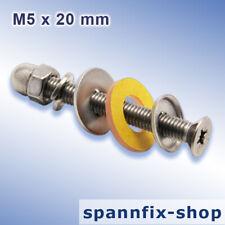 100 TRESPA-Balkonschrauben-Set M5 x 20 mm aus A2 TRESPA Edelstahl VA2 Schrauben