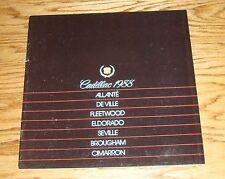 Original 1988 Cadillac Full Line Sales Brochure 88 Fleetwood Eldorado Allante