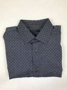 Ted Baker - Navy Rectangle  Shirt - 2/S - *NEW WITH TAGS* RRP £89