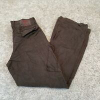 Vintage Guess Jeans Mens Cargo Trousers W32 L30 Brown Straight