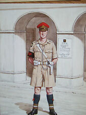MILITARY POSTCARD-CORPORAL -CORPS OF MILITARY POLICE CAIRO 1942 BY BRYAN FOSTEN