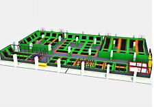20,000 sqft Commercial Trampoline Park Turnkey Dodgeball Climb Ninja We Finance