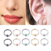 Fashion Captive Bead Piercing Body Jewelry Nose Ring Lip Hoop Ear Hoop Earring