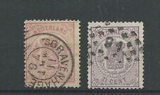 Nederland 16, 18 Wapens 1869  VFU/gebr  CV 200 €