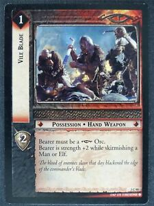 Vile Blade 2 C 95 - played - LotR Cards #XH