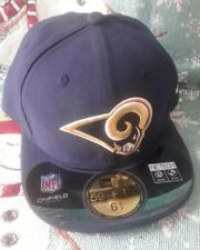 b1d6b81bf Los Angeles Rams New Era Fitted Cap NFL Youth Kids Navy Onfield 59FIFTY 6 1