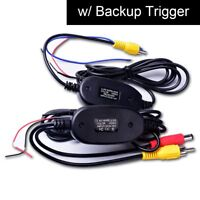 Wireless Video Cable w/ Backup Trigger Wire for RCA Phono Parking Camera System