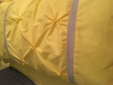 2 KING Pillow Bed Shams Yellow / Gray Bedroom Bedding