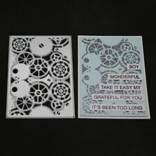 Gear Metal Cutting Dies Stencil DIY Scrapbooking Embossing Paper Card Craft