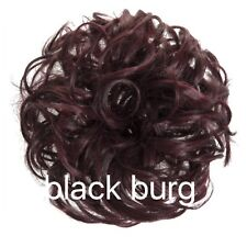 Synthetic Elasticated Hair Scrunchie Messy Bun Wrap Hairpiece Curly Wavy Spiky