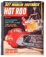 Vtg Hot Rat Rod Car Magazine - June 1965 HOT ROD (327 Marlin Fastback)