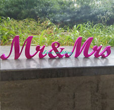 Rose Mr and Mrs Wedding sign, Gold and Silver Glitter, Wedding Decor, Wedding