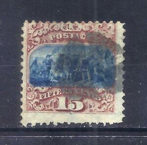 US Stamps - #118 - USED- 15 cent type I  1869 Pictorial Issue  - CV  $825