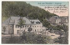 Ak Gruss aus Dönschten Erzgebirge Gasthaus 1907 ! (A2073