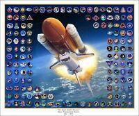 "Space Shuttle Atlantis by Mark Karvon Giclee Print /""Mission Plus 10/"" Sml"
