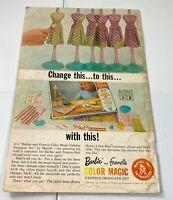 Mattel Barbie & Francie 1965 Vintage Print Magazine Ad Barbie Doll Color Magic
