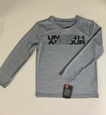 UNDER ARMOUR Kids Boy's Girls Pull Over Athletic Long Sleeves Top Gray NWT