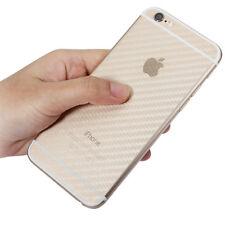 """Pellicola TRASPARENTE posteriore 3D CARBON per Apple iPhone 6 6s 5.5"""" antigraffi"""