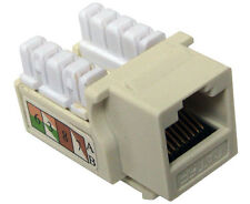 10x CAT 5E Keystone Jack RJ45 Ethernet Phone Network Data Almond K53-143/90/AL