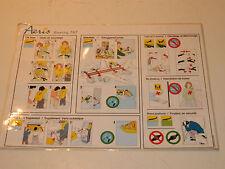 AERIS Safety card CONSIGNE de SECURITE boeing 767 carte de sécurité aérienne