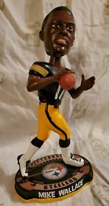 2012 INDIV #'D MIKE WALLACE PITTSBURGH STEELERS BOBBLE HEAD LEGENDS OF THE FIELD