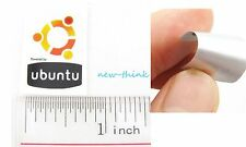 New Aluminium Metal Linux Ubuntu Case Badge Sticker 18mmx27mm
