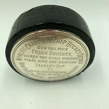 Historic 1928 New York Rangers First Stanley Cup Game Used Game Winning Puck