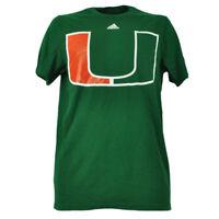 NCAA Miami Hurricanes Canes Huge Logo Mens Green Tshirt Tee Short Sleeve