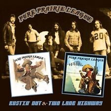 PURE PRAIRIE LEAGUE - BUSTIN' OUT & TWO LANE HIGHWAY  CD NEUF