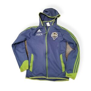 Seattle Sounders Adidas Climalite Xbox 360 Authentic Jacket Hoodie Size S