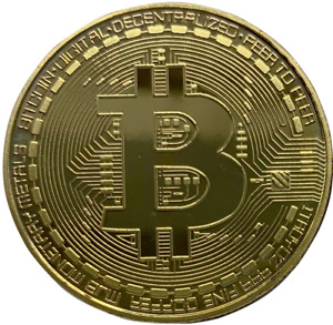 Bitcoin Gold Plated Physical Commemorative Coin 2013