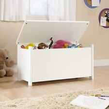 Toy Storage Box Chest Bin Kids Large Playroom Organizer Bedroom Furniture White
