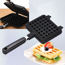 Handheld No-stick Iron Coated Steel Breakfast Waffle Pan Cookie Cake Maker Tools