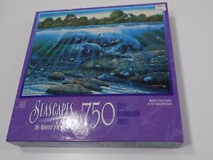 New-Old-Stock, Milton Bradley Seascapes,Manatees, 750 piece puzzle Robert Nelson
