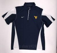 Nike Men's Large West Virginia Polo Shirt Dri-FIT Short Sleeve Navy 476277