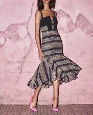Kimora Lee Simmons NWT $1395 The Bella Multi-Color Flare Dress Size 0     Z34