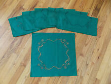 HERITAGE LACE GREEN SET OF 6 CHRISTMAS NAPKINS 17X17 ITEM 4175