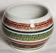 Sgraffito Sugar Bowl - Dragon Pottery, Rhayader