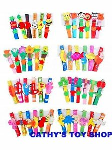 Multi Coloured Funky Fun Rainbow Wooden Clothes Pegs Party Goodie Bag Gifts