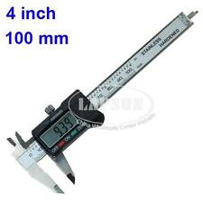"4"" 100mm Digital LCD Vernier Caliper Micrometer Electronic Measuring Gauge Ruler"